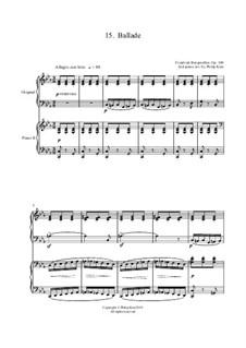 No.15 Баллада: Для двух фортепиано by Иоганн Фридрих Бургмюллер