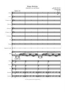 С днем рождения тебя: For chamber orchestra by Милдред  Хилл