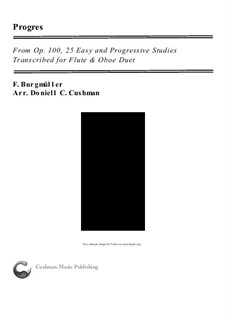 No.6 Progrès (Progress): For flute and oboe by Иоганн Фридрих Бургмюллер