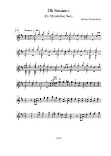 О, Сюзанна: For mandolin by Стефен Фостер