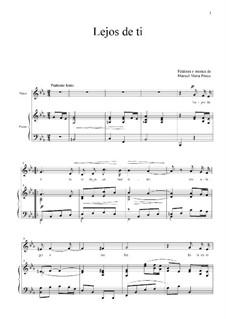Lejos de ti: Для голоса и фортепиано by Мануэль Понсе