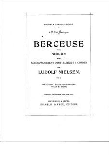 Колыбельная для скрипки и струнных, Op.9: Колыбельная для скрипки и струнных by Людольф Нильсен