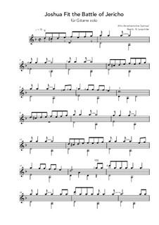Joshua Fit de Battle ob Jericho (Joshua Fit the Battle): For guitar solo (d minor) by folklore