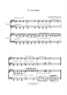 No.19 Ave Maria: Для двух фортепиано by Иоганн Фридрих Бургмюллер