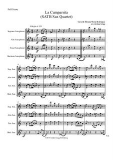 La Cumparsita: SATB sax quartet by Gerardo Hernan Matos Rodriguez