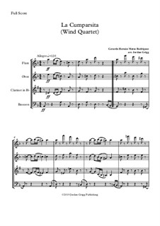 La Cumparsita: For wind quartet by Gerardo Hernan Matos Rodriguez