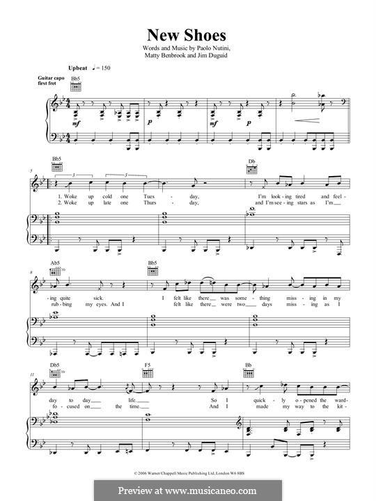 New Shoes: Для голоса и фортепиано (или гитары) by Jim Duguid, Paolo Nutini, Matthew Benbrook