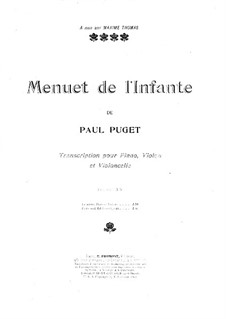 Menuet de l'Infante: For violin, cello and piano – cello part by Поль Пюже