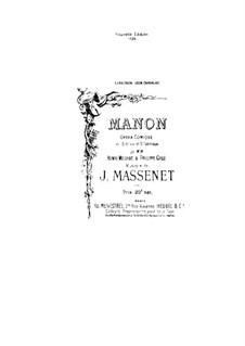 Манон: Клавир с вокальной партией by Жюль Массне
