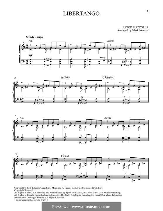 Libertango: Для фортепиано by Астор Пьяццолла