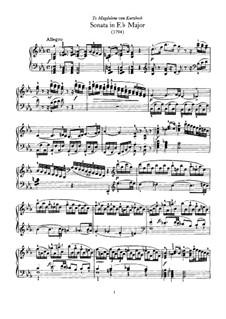 Соната для фортепиано No.62 ми-бемоль мажор, Hob.XVI/52: С аппликатурой by Йозеф Гайдн