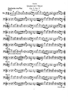 Струнный квартет до мажор, Hob.III/14 Op.3 No.2: Партия виолончели by Йозеф Гайдн