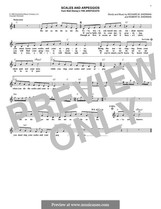 Scales and Arpeggios: Мелодия by Richard M. Sherman, Robert B. Sherman