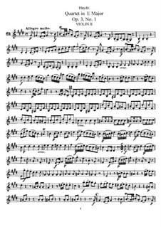 Струнный квартет ми мажор, Hob.III/13 Op.3 No.1: Партия второй скрипки by Йозеф Гайдн