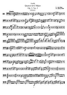Струнный квартет соль мажор, Hob.III/15 Op.3 No.3: Партия виолончели by Йозеф Гайдн