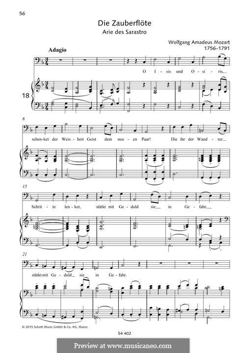 O, Исида и Осирис: Для голоса и фортепиано by Вольфганг Амадей Моцарт