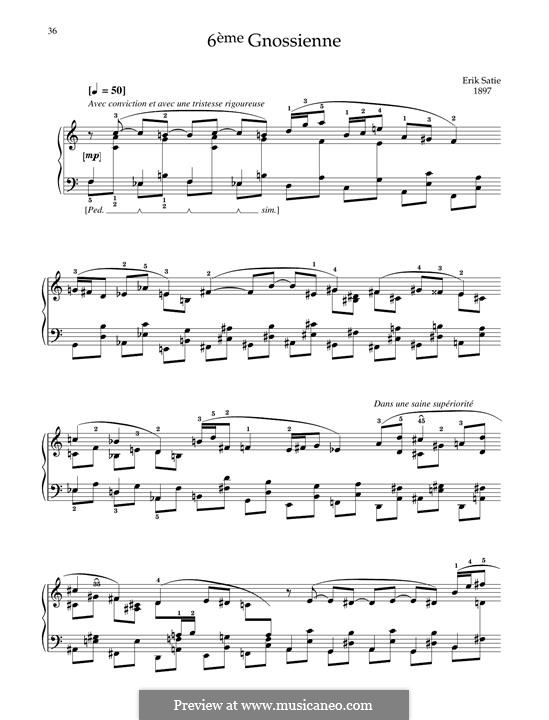 No.6: Для фортепиано by Эрик Сати
