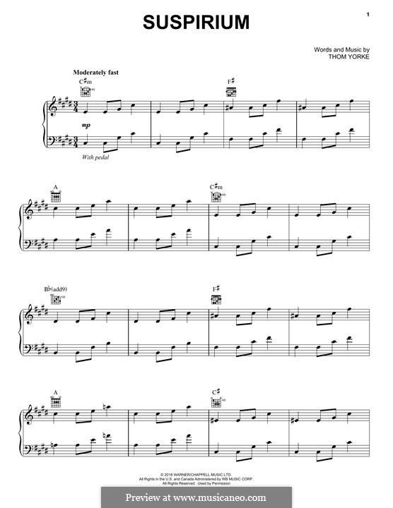 Suspirium: Для голоса и фортепиано (или гитары) by Thomas Yorke