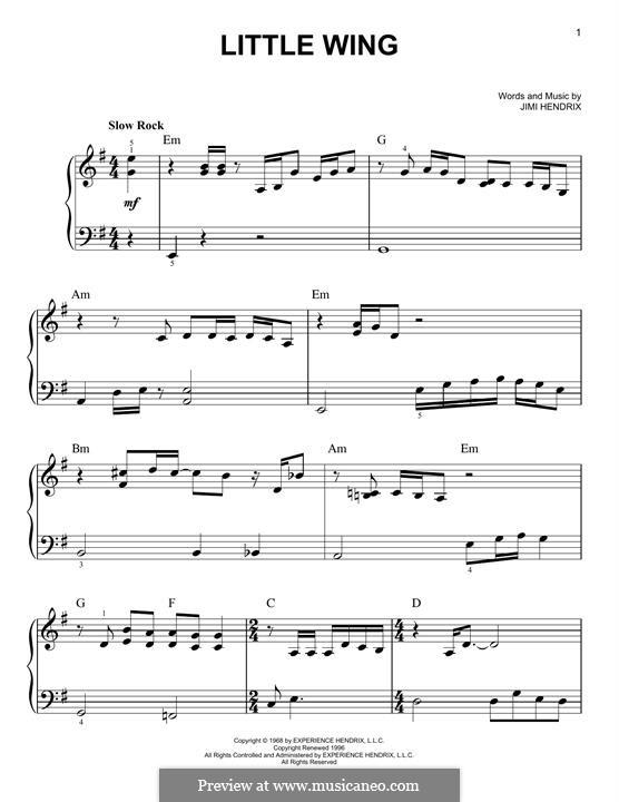 Little Wing: Для фортепиано by Jimi Hendrix