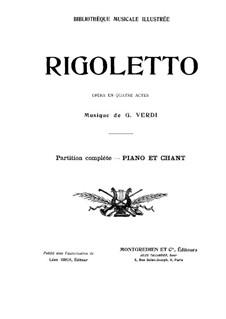 Вся опера: Аранжировка для голосов и фортепиано by Джузеппе Верди
