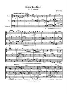 String Trio No.4 in E minor: String Trio No.4 in E minor by Jordan Grigg