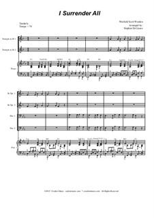 Всё Иисусу отдаю я: For brass quartet and piano - alternate version by Winfield Scott Weeden