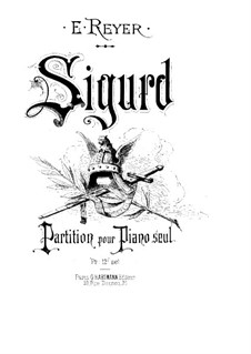Сигурд: Аранжировка для фортепиано by Эрнест Рейер