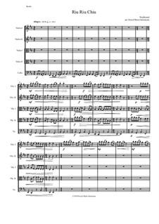 Riu Riu Chiu arranged: For string quintet (2 violins, 2 violas, 1 cello) by folklore