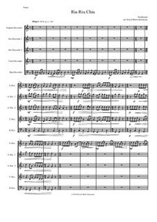 Riu Riu Chiu arranged: For recorder quintet (soprano, 2 altos, tenor, bass) by folklore