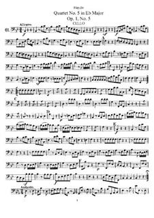Струнный квартет No.5 си-бемоль мажор, Hob.III/5 Op.1 No.5: Партия виолончели by Йозеф Гайдн