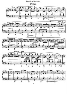 Три поэтических польки, B.95 T.65 Op.8: Polka No.1 in E Flat Major by Бедржих Сметана
