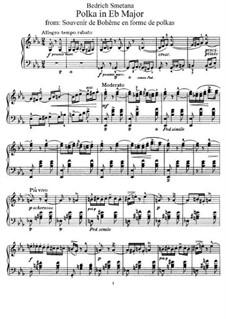 Воспоминания о Чехии в форме полек: Polka in E Flat Major, B.116 T.84 Op.13 by Бедржих Сметана
