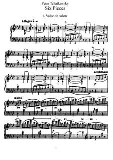 Шесть пьес для фортепиано, TH 143 Op.51: Сборник by Петр Чайковский