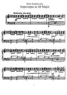 Экспромт ля-бемоль мажор, TH 147: Для фортепиано by Петр Чайковский