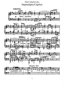 Экспромт-каприс, TH 144: Для фортепиано by Петр Чайковский
