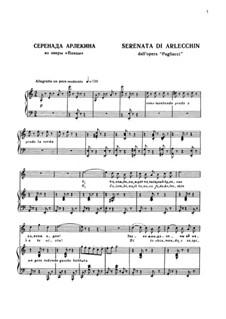 Паяцы: Serenata di Arlecchin by Руджеро Леонкавалло