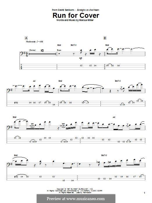 Run for Cover: Для бас-гитары с табулатурой by Marcus Miller