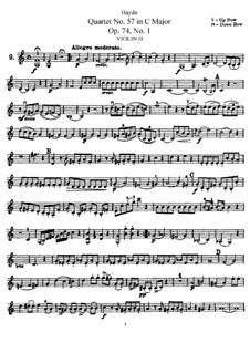 Струнный квартет No.57 до мажор, Hob.III/72 Op.74 No.1: Партия второй скрипки by Йозеф Гайдн