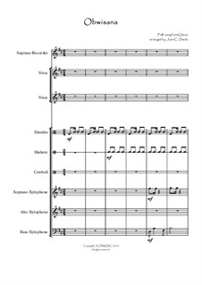Obwisana Folk Song (for Orff Ensemble): Obwisana Folk Song (for Orff Ensemble) by folklore