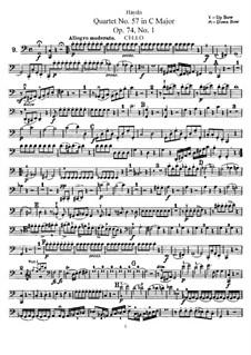 Струнный квартет No.57 до мажор, Hob.III/72 Op.74 No.1: Партия виолончели by Йозеф Гайдн