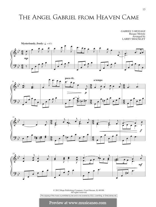 The Angel Gabriel: Для фортепиано by folklore