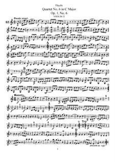 Струнный квартет No.6 до мажор, Hob.III/6 Op.1 No.6: Партия второй скрипки by Йозеф Гайдн