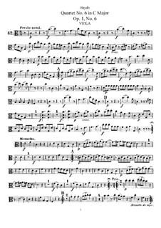 Струнный квартет No.6 до мажор, Hob.III/6 Op.1 No.6: Партия альта by Йозеф Гайдн