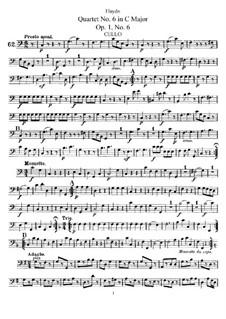 Струнный квартет No.6 до мажор, Hob.III/6 Op.1 No.6: Партия виолончели by Йозеф Гайдн