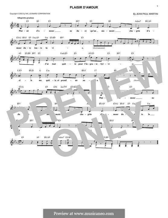 Радость любви: Мелодия by Иоганн Пауль Эгидиус Мартини