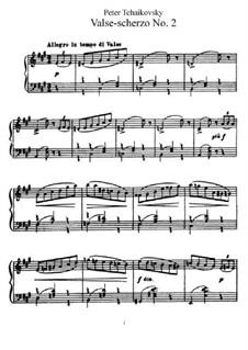 Вальс-скерцо, TH 146: Для фортепиано by Петр Чайковский