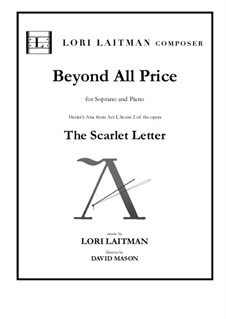 Beyond All Price: For soprano and piano version by Lori Laitman
