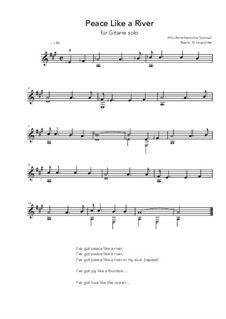 Peace Like a River: For guitar solo (A Major) by folklore