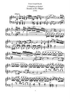Соната для фортепиано No.62 ми-бемоль мажор, Hob.XVI/52: Для одного исполнителя by Йозеф Гайдн