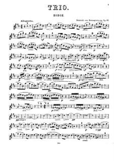 Трио для фортепиано, гобоя и валторны, Op.61: Партия гобоя by Генрих фон Герцогенберг